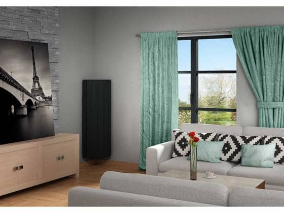 zoom sur le radiateur lectrique avec d tecteur de pr sence. Black Bedroom Furniture Sets. Home Design Ideas