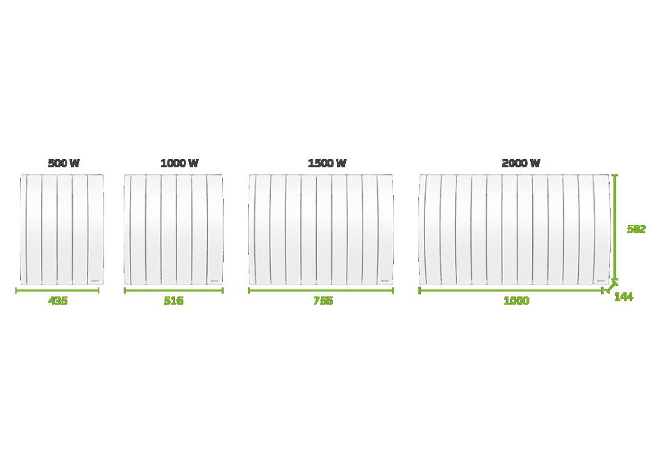 Radiateur Electrique Connecte A Inertie Fluide Ipala Horizontal Confort Saute