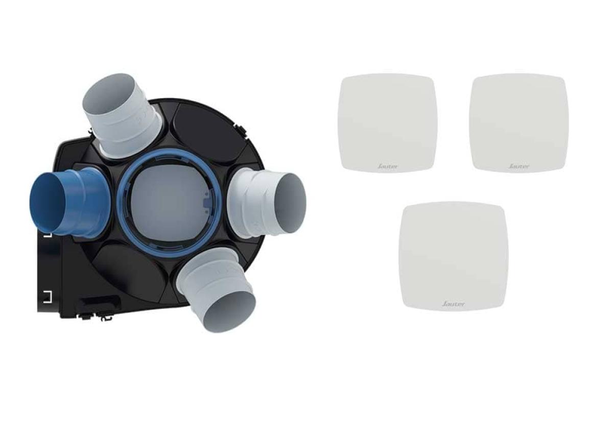 VMC simple flux auto réglable Agalina Caisson/Kit - Confort Sauter