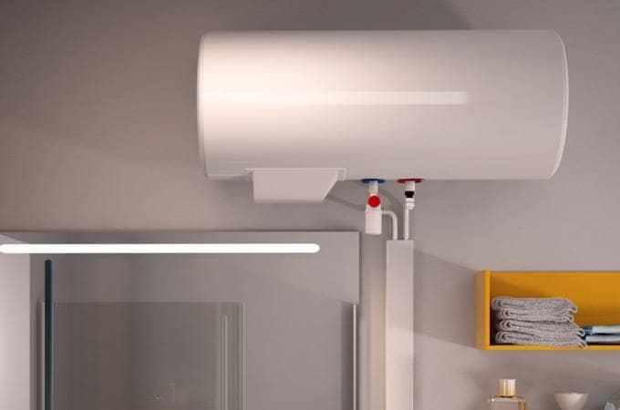 Chauffe eau lectrique aci hybride essentiel horizontal confort sauter - Chauffe eau horizontal ...