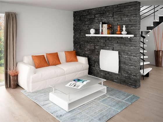 zoom sur le radiateur lectrique avec d tecteur de pr sence. Black Bedroom Furniture Sets. Home Design Ideas