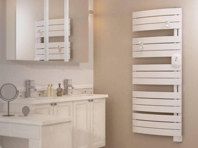 installer son radiateur sèche-serviettes électriques - confort sauter - Chauffage De Salle De Bain A Fixation Murale