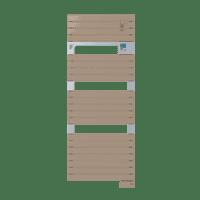 Radiateur sèche-serviettes Classic cappuccino Asama 750W