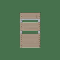 Radiateur sèche-serviettes eau chaude cappuccino Asama 510 W