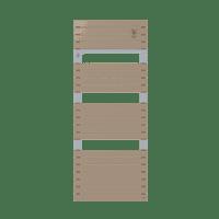 Radiateur sèche-serviettes eau chaude cappuccino Asama 715 W