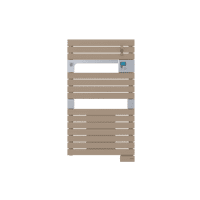 Radiateur sèche-serviettes ventil 3CS cappuccino Asama 1500W