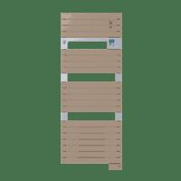 Radiateur sèche-serviettes ventil 3CS cappuccino Asama 1750W