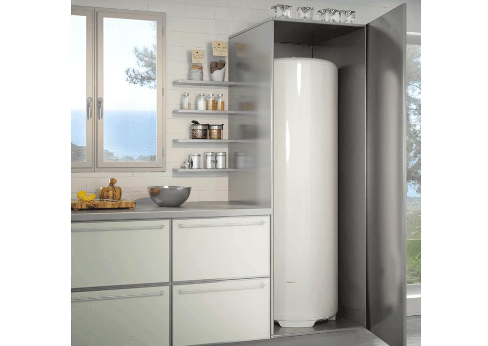 chauffe eau bajawa vertical sur socle confort sauter. Black Bedroom Furniture Sets. Home Design Ideas