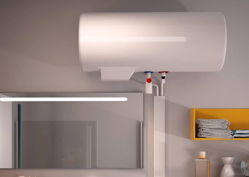 Chauffe eau lectrique aci hybride essentiel horizontal confort sauter - Chauffe eau horizontale ...