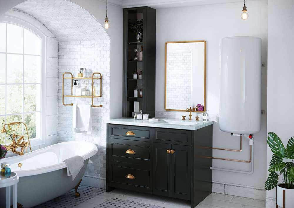 chauffe eau lectrique plat guelma connect confort sauter. Black Bedroom Furniture Sets. Home Design Ideas