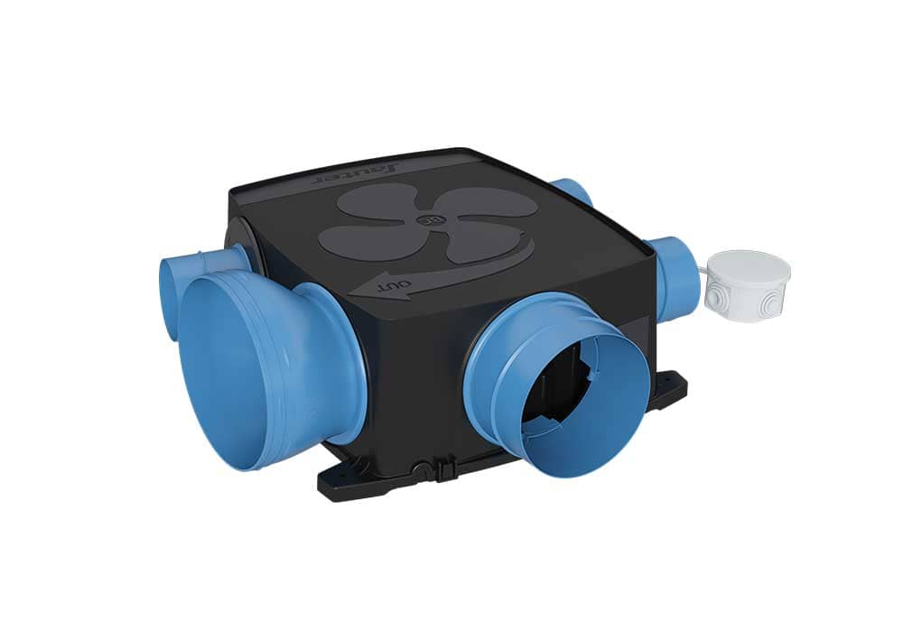 Vmc Simple Flux Hygroréglable Gauli Basse Consommation Extra Plat Kit Confort Sauter